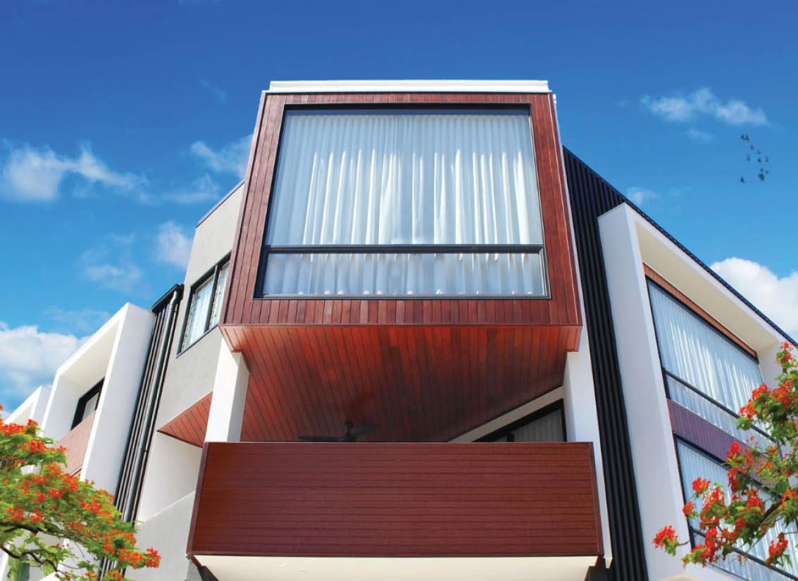 Aluminium wood look balustrades