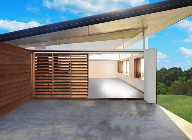 Eurowood Aluminium Wood Grain privacy screens