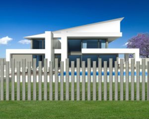 Aluminium Wood Grain Slat Fence Wave Design Snaploc3D-Beach Oak
