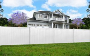 Hamptons Style Fence In White