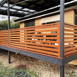 Timber aluminium Balustrades