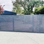 aluminium gates that look like wood