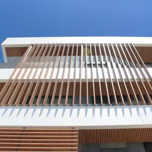 Eurowood Aluminium Wood Look Balustrades and Aluminium Roof Cladding